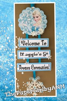 Frozen Elsa Personalized Ladder Welcome Sign by ThePaperGirlbyANM