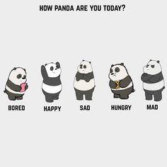 "79 Suka, 9 Komentar - Love for pandas and fashion (@wofpanda) di Instagram: ""How are you feeling ? 😞🐼"""