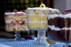 recipes for chocolate kahlua trifle and lemon and cream trifle