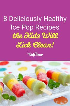 8 Healthy Ice Pop Recipes that the Kids will Lick Clean Ice Pop Recipes, Dessert Recipes, Family Meals, Kids Meals, Ice Pops, Fresh Rolls, Summer Fun, Sweet Treats, Favorite Recipes