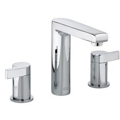 The Studio Widespread Bathroom Faucet is engineered to look beautiful and function flawlessly. The exquisite design offers outstanding features like a brass construction and ceramic disc valves making it worry-free, drip-free and built to last.