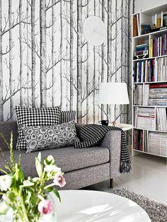leroy merlin tapisserie noir et blanc pour le salon moderne et chic
