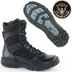 """Altama LITESpeed Boots Black 8"""" 3468"""