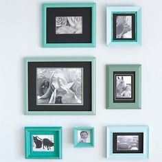 Thrift store charity shop mismatched picture frames  makeover upcycle DIY