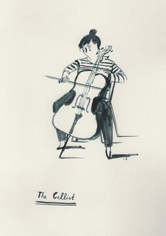 Cellist by Lizzy Stewart, via Flickr