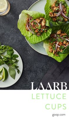 These Laarb Lettuce Cups are an easy, fun (detox-friendly) dinner party dish idea