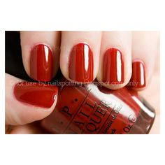 (14) love red short nails | hair, make-up and nails... | Pinterest ❤ liked on Polyvore featuring beauty products, nail care and nails