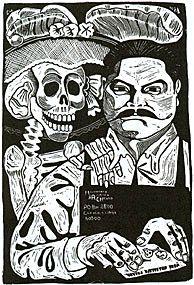 Maira:   José Guadalupe Posada nació el 2 de febrero de 1852, en el barrio de San Marcos de la ciudad de Aguascalientes. Fue ilustrador de periódicos y creó grabados por medio de la litografía que es una técnica de grabado en metal. Fue el creador de La Calabera Garbancera o mejor conocida como La Catrina.