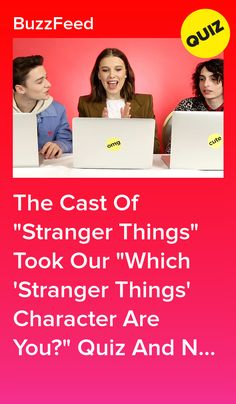 """The Cast Of """"Stranger Things"""" Took Our """"Which 'Stranger Things' Character Are You?"""" Quiz And Now You Can Too Buzzfeed Stranger Things, Stranger Things Quiz, Stranger Things Characters, Cast From Stranger Things, Character Test, Which Character Are You, Fangirl Book, Starnger Things, Quizzes For Fun"""