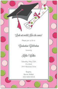 Pink graduation invitation graduation pinterest colored pink graduation invitation graduation pinterest colored envelopes white envelopes and envelopes filmwisefo