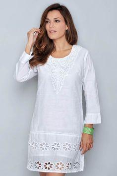 Linen Dresses, Cotton Dresses, Blouse Dress, Lace Dress, Simple Dresses, Casual Dresses, Kurta Designs Women, Embroidery Fashion, Little White Dresses