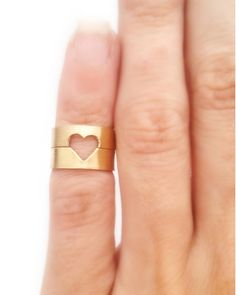 Open Heart Midi Rings