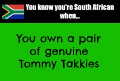 You know you're South African when.