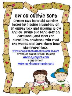 Once Upon 2 Teachers: Ow, Ou Word Sort