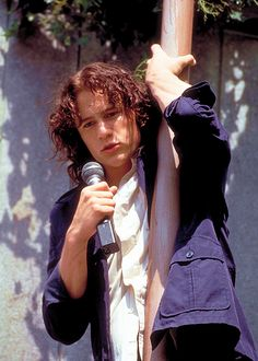 """10 Things I Hate About You with Heath Ledger  """"you're just too good to be true  Can't take my eyes of off you."""""""