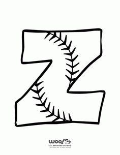 Printable Baseball Alphabet Letters Baseball Alphabet Letter Z – Craft Jr. Baseball Crafts, Baseball Tips, Baseball Letters, Baseball Decorations, Alphabet Letters To Print, Baseball Birthday, Baseball Party, Sport Craft, Sports Mom