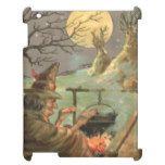 Witch Fire Cauldron Full Moon Night Case For The iPad #halloween #happyhalloween #halloweenparty #halloweenmakeup #halloweencostume