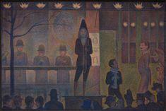 From The Metropolitan Museum of Art, Georges Seurat, Circus Sideshow (Parade de cirque) Oil on canvas, 39 × 59 in Georges Seurat, Figure Painting, Oil Painting On Canvas, Canvas Paintings, Seurat Paintings, Subject Of Art, Art Français, Monet, Famous Art