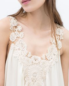 ZARA - SALE - CROCHET FRONT TOP