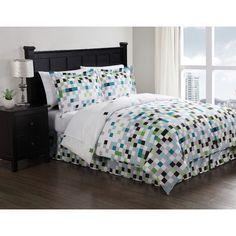 Style 212 Pixel 9 Piece Full Comforter Set