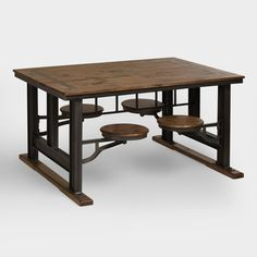 Reminiscent of a piece found in an old schoolhouse cafeteria, our Galvin Industrial Collection brings a novel look to the kitchen, dining room or home office.