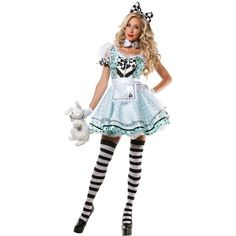 756c567f1 Crazy Alice Costume For Women ( 20) ❤ liked on Polyvore featuring costumes