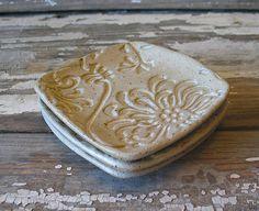 Pottery Spoon Rest  Prep dish  Tapas  Stoneware  by DragonflyArts, $9.00