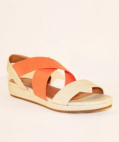 Take a look at this Natural Duncan Sandal by Michael Antonio on #zulily today!