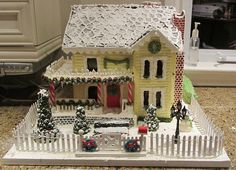 Ultimate Gingerbread - Photos: Effingham gingerbread House by Paula Timmons Gingerbread House Patterns, Gingerbread House Template, Gingerbread Village, Christmas Gingerbread House, Gingerbread Recipes, Cookie House, House Cake, Christmas Baking, Christmas Holidays