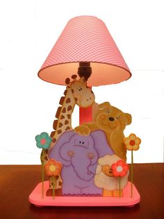 Tole Painting, Diy Painting, Childrens Lamps, Boy Girl Room, Wooden Cutouts, Country Paintings, Wooden Lamp, Handmade Wooden, Fun Projects