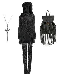 """""""Aesthetic: Sexy Nazgûl"""" by shortcuttothestars ❤ liked on Polyvore featuring Bolongaro Trevor, 21dgrs and Pieces"""