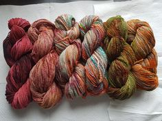 Find your Fade Shawl set, home dyed and spun combed merino