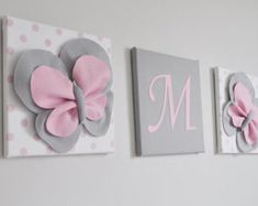 Make her room her very own with her own wall art monogram. Choose your flower color, and letter just for her. Or contact us today to create your very own wall set. See our other wall art: https://www.etsy.com/shop/bedbuggs?ref=hdr_shop_menu&section_id=11464084  Checkout our matching pillows: https://www.etsy.com/shop/bedbuggs?ref=hdr_shop_menu&section_id=7690559  And yep, weve got curtain ties too: https://www.etsy....