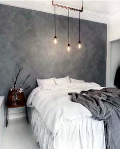 Whether you just moved into your new home or want to give a makeover to your old bedroom, need ideas to make your bedroom design stand out. So you want a modern bedroom but do not know where to sta… Home Bedroom, Modern Bedroom, Bedroom Decor, Bedroom Ideas, Gray Bedroom, Master Bedroom, Bedroom Inspiration, Bedroom Designs, Wall Paper Bedroom