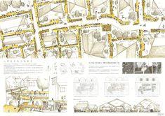 へだたりのつながり 石飛亮 武井良祐(横浜国立大学大学院) Japan Design, Architecture Board, Landscape Architecture, Urban Concept, Urban Village, Portfolio Presentation, Vintage World Maps, Competition, Cute Animals