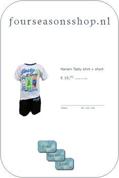 Tasty shirt en short #fourseasonsshop.nl #jongensshirt #jongensshort Four Seasons, 21st, Shirts, Shopping, Seasons Of The Year, Dress Shirts, Shirt