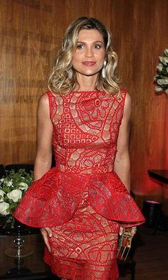 Flávia Alessandra arrasou no look vestindo Martha Medeiros!!!  #tendênciapeplum