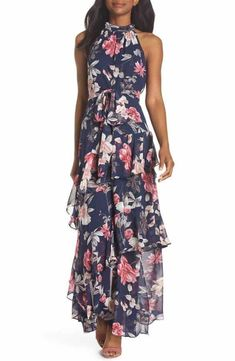 f9770cfb77d15c pretty floral print maxi dress to wear to a summer wedding as a guest
