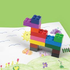 Stack a Doodle Brick Crayons