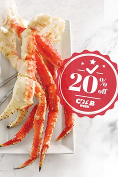 Dive into Crab Week! Get 20% every single one of our yummy crab🦀 dishes when you use promo code CRABWEEK. Order now! #LobsterGram #CrabWeek Lobster Gram, Lobster Pot Pies, Crab Legs For Sale, Frozen Lobster Tails, Shrimp Cocktail Sauce, Maryland Style Crab Cakes, Alaskan King Crab, Filet Mignon Steak, Crab Dishes