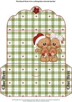 Cute Bears Christmas Money Wallet on Craftsuprint - View Now!