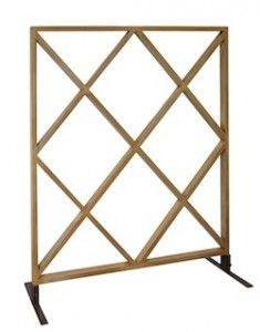 Madeline partition, perfect to add flowers for that special day #partitions www.designer8furniturerental.com
