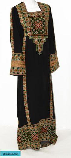 Alimah Embroidered Palestinian Fellaha Thobe - th766 - AlHannah.com