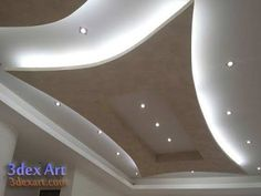 New ideas for false ceiling designs for living room and hall with best ceiling lighting ideas, how to choose suitable false ceiling design 2019 for your living room or halls, living room ceiling designs 2019 for any interior living room style Gypsum Ceiling Design, House Ceiling Design, Ceiling Design Living Room, Bedroom False Ceiling Design, Floor Design, Living Room Designs, Fall Ceiling Designs Bedroom, Latest False Ceiling Designs, Plafond Design