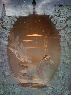 Image result for white christmas window display