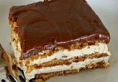 Nepečené_krémové_kostky_připravené_už_za_15_minut!_Jsou_opravdu_vynikající! No Bake Desserts, Delicious Desserts, Dessert Recipes, Yummy Food, Hungarian Cake, Hungarian Recipes, No Bake Eclair Cake, Vegetarian Recepies, No Bake Pies
