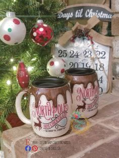 Dripping Hot Chocolate Mug - Stainless Steel - Christmas Tumbler - North Pole Tumbler - Christmas Gift - Hot Chocolate Mug Diy Tumblers, Glitter Tumblers, Glitter Cups, Custom Tumblers, Kids Tumbler, Tumbler Cups, Christmas Tumblers, Coffee Cup Design, Hot Chocolate Mug