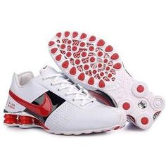 438684 022 Nike Shox Conundrum White Red J02034
