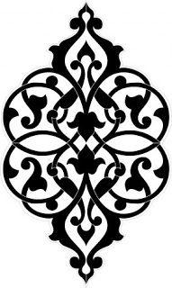 Decorative Design Element, Vector File, Monochrome Royalty Free Cliparts, Vectors, And Stock Illustration. Stencil Templates, Stencil Patterns, Stencil Designs, Pattern Art, Embroidery Patterns, Pattern Design, Damask Patterns, Damask Stencil, Motifs Islamiques
