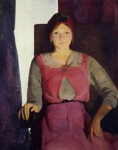 Portrait of Geraldine Lee, 1914 by George Bellows (American 1882-1925)